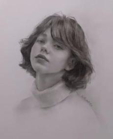 素材系列课程-素描真人头像系列-人物五官画法